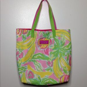 Lilly Pulitzer Estee Lauder Canvas Tote Bag Pink